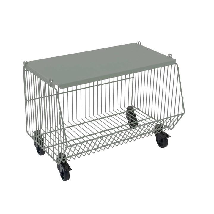 Pension für Produkte - Home Wire Basket set van 1, cementgrijs