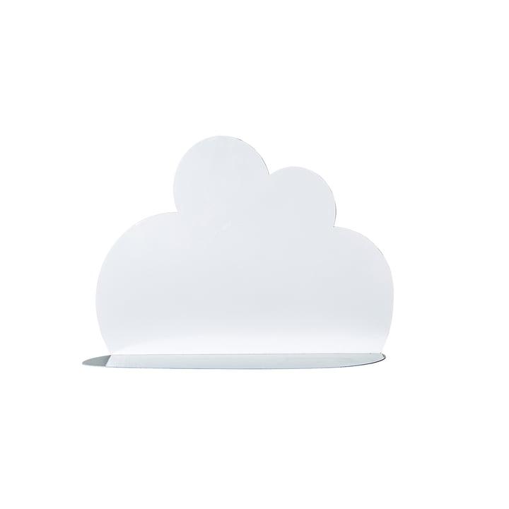Kleine wolkenplank van Bloomingville in wit