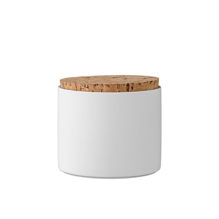 Opbergpot met kurkdeksel H11.8 cm van Bloomingville in wit