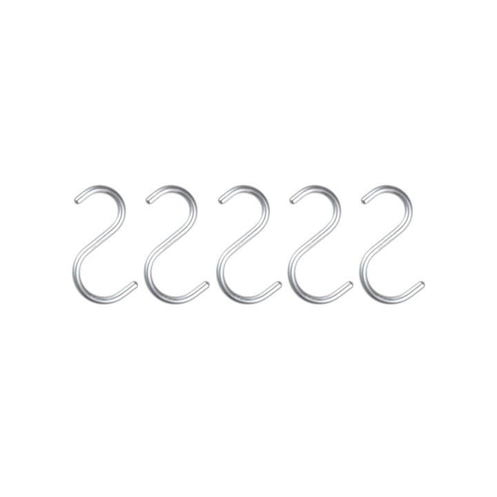 Nomess - S-Hoek, mini, aluminium zilver, set van 5