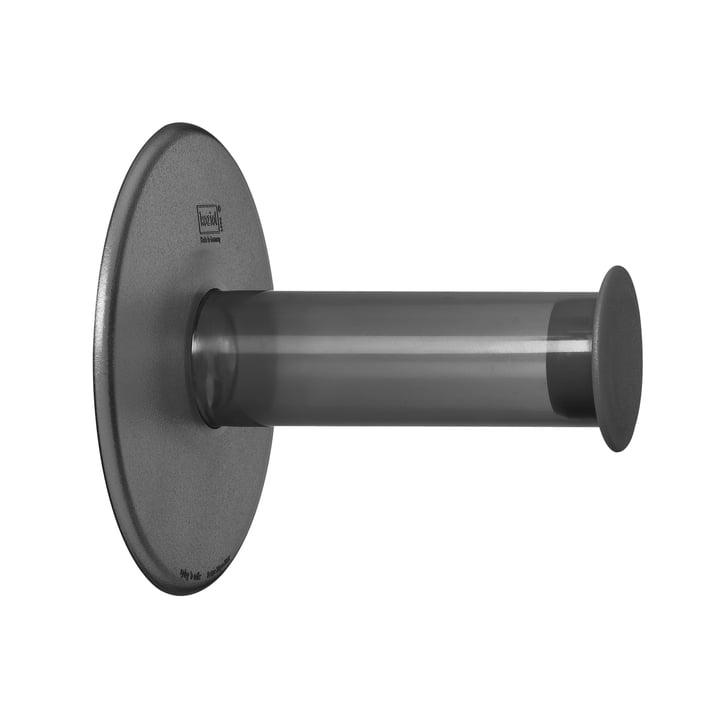 Koziol - Plug'n Roll Toiletpapierhouder, transparant antraciet