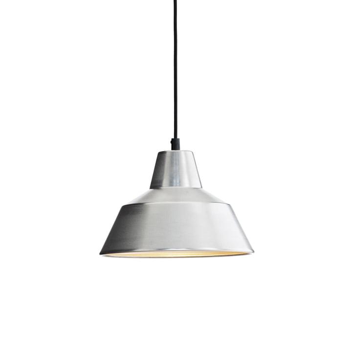 Werkplaatslamp W2 met de hand gemaakt in aluminium / zwart