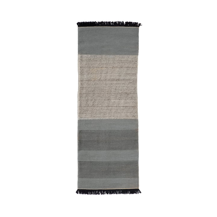De nanimarquina - Tres Stripes 80 x 240 cm in blauw
