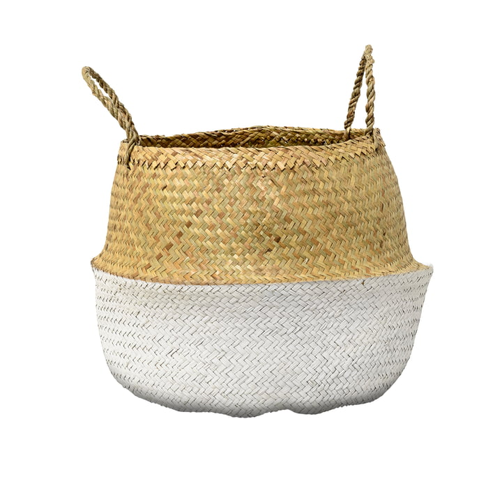 Bloomingville - Seagrass Basket, wit
