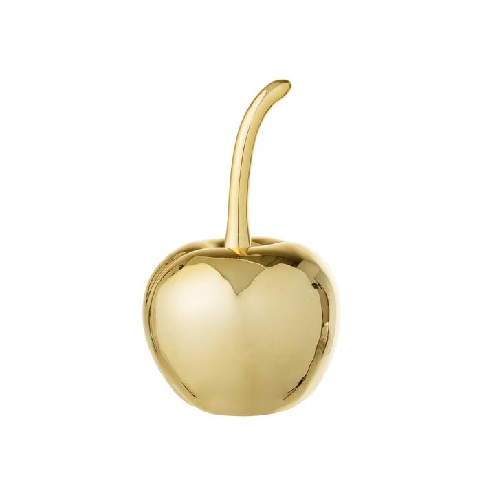 Decoratieve kers Ø 5, H 9 cm van Bloomingville in goud