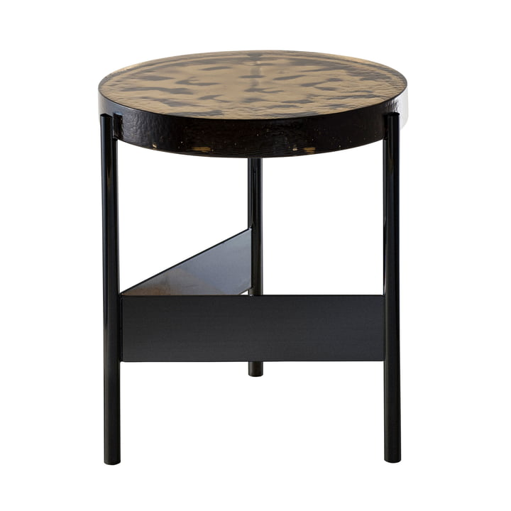 De Pulpo - Alwa Two Table, H Ø 44 x 38 cm in Smoky Grey / Black