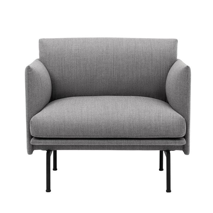 Outline Studio fauteuil van Muuto in Fiord 151/ Zwart