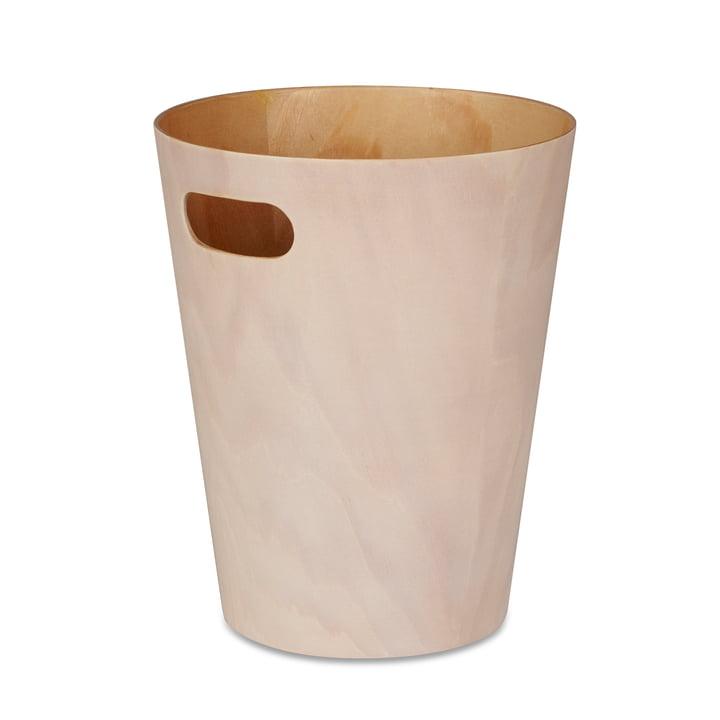 De Umbra - Afvalbak voor houtafval in wit