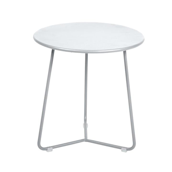 De Fermob - Cocotte Side Table / Kruk, Ø 34 cm x H 36 cm in katoen wit