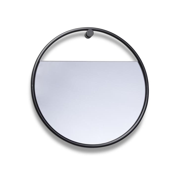 Northern - Peek Wall Mirror Ø 40 cm, zwart