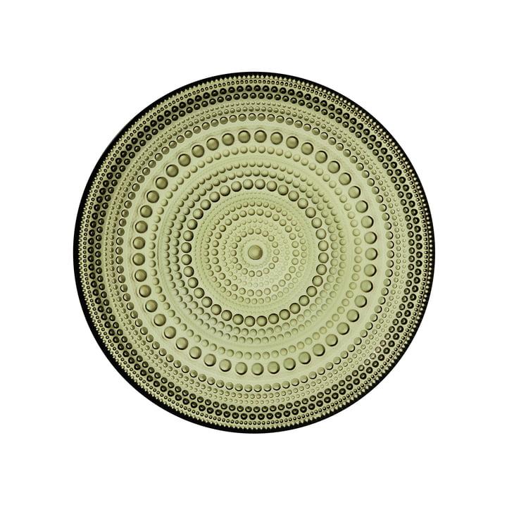 Kastehelmi plaat Ø 17 cm van Iittala in mosgroen