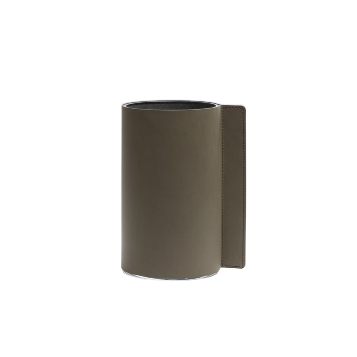 Blokvaas M, Ø 11 x 20 cm van LindDNA, legergroen Nupo / glas