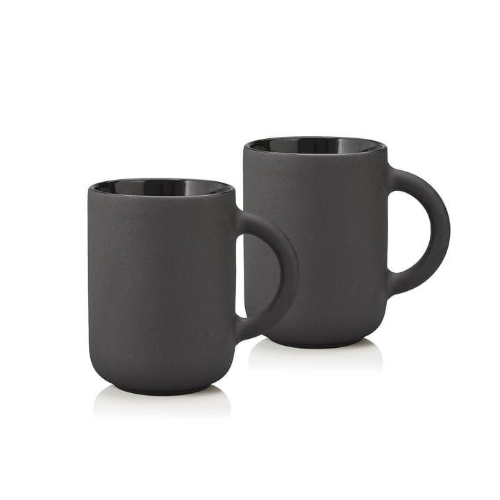 Stelton - Theo mok 0,35 l, zwart (set van 2)