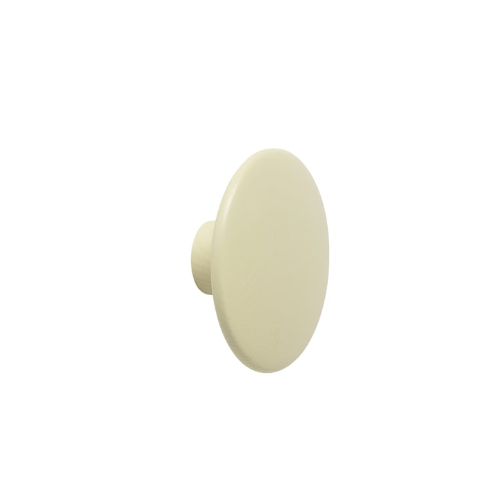 "Muurhaak ""The Dots"" single klein van Muuto in beige-groen"