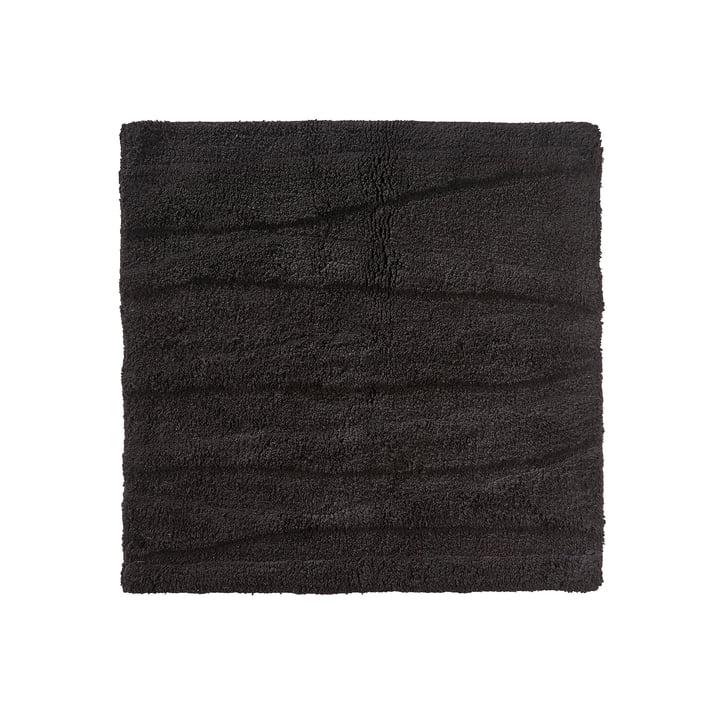 De Zone Denemarken - Flow Bathmat, 65 x 65 cm, zwart