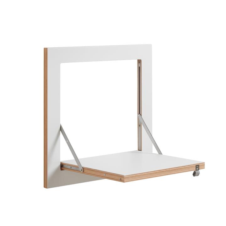 Ambivalenz - Fläpps Leunende plank, 40 x 40 cm, 1 plank, wit