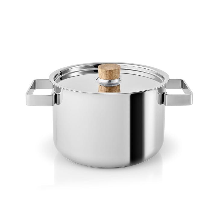 Nordic Kitchen kookpot 3 l van Eva Solo in roestvrij staal / eikenhout