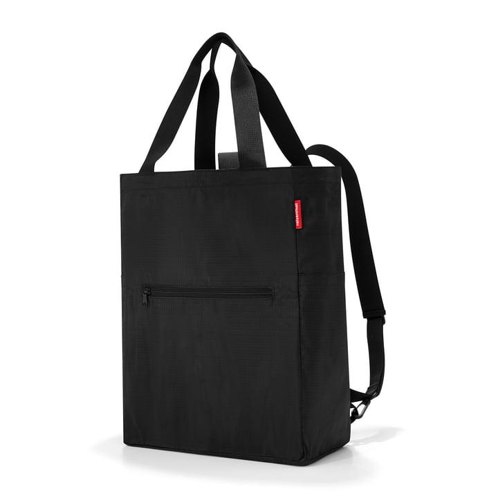 herenthel - Mini Maxi 2-in-1 tas en rugzak, zwart