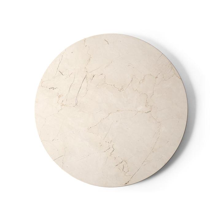 Tafelblad voor Androgyne bijzettafel Ø 42 cm van Menu in marmer ivoor