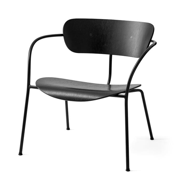 Pavilion Loungechair AV 5 volgens &traditie in zwart / eiken zwart gelakt