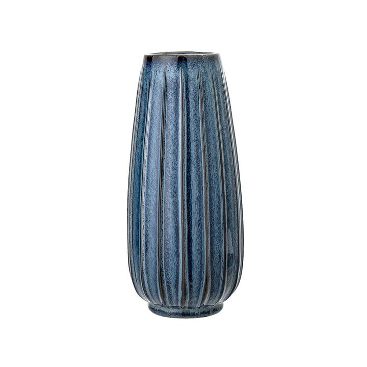 Steinzeu vaas Ø 14 x H 30 cm van Bloomingville in blauw