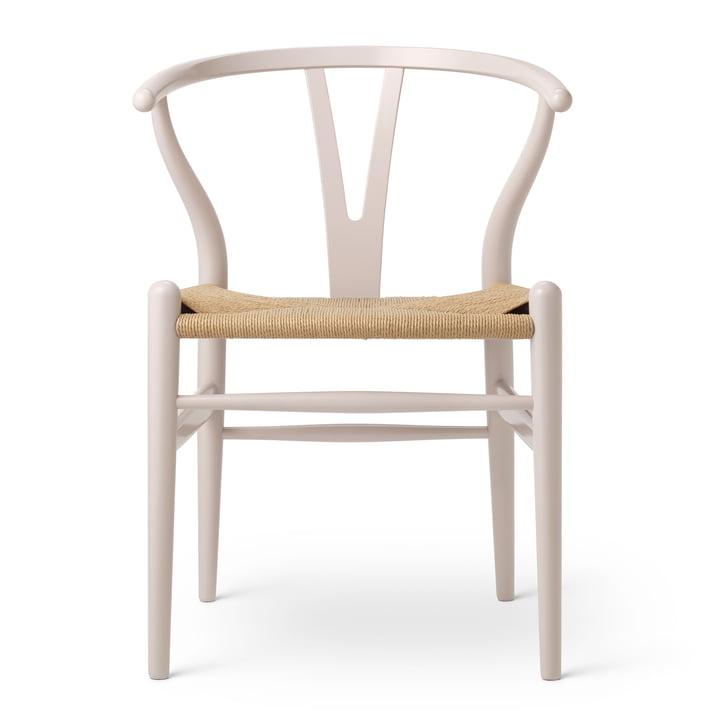 CH24 Wishbone Chair van Carl Hansen in Beech Rosy Blush / Natuurlijk vlechtwerk (Verjaardagsuitgave)