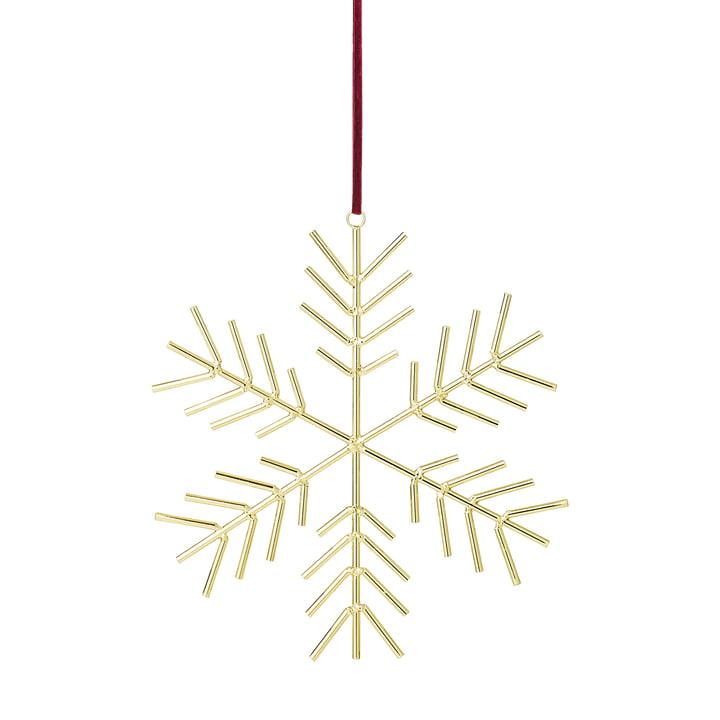 Sneeuwvlok ornament H 32,5 x B 31 cm van Bloomingville in goud