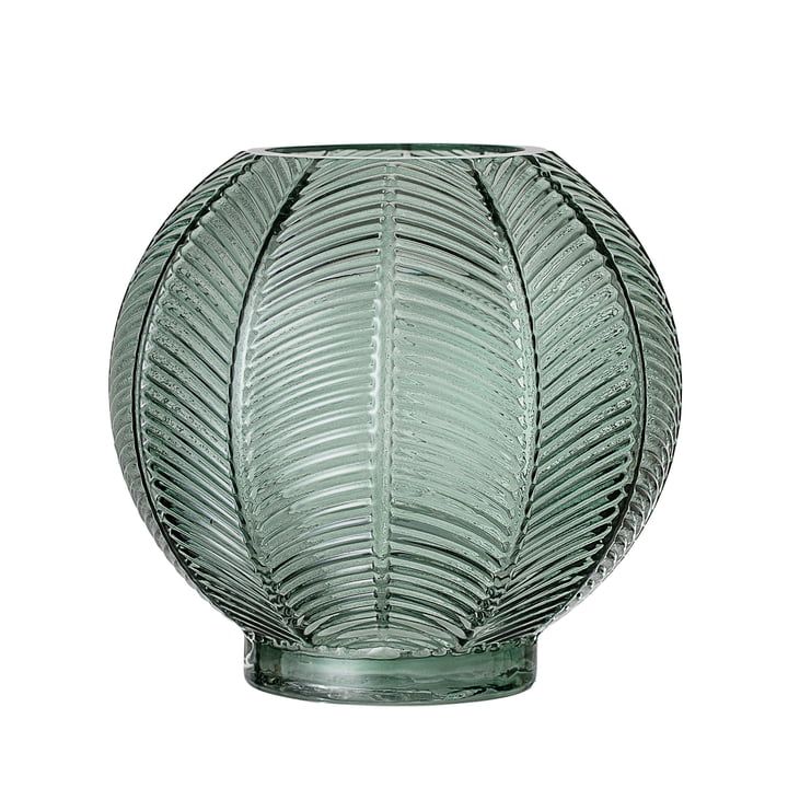 Glazen vaas van Bloomingville - Ø 20 x H 19 cm in groen