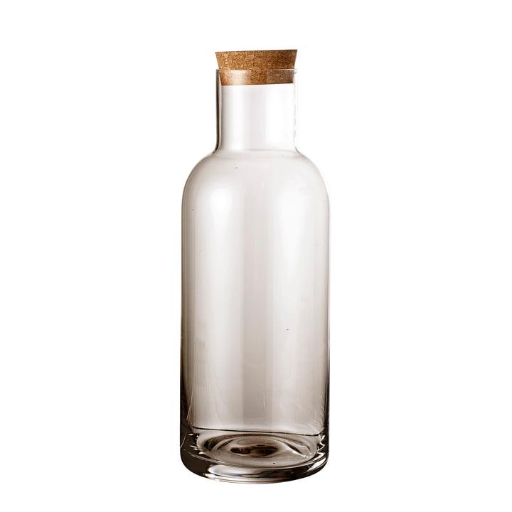 Glazen fles met kurk Ø 9 x H 25 cm van Bloomingville in bruin
