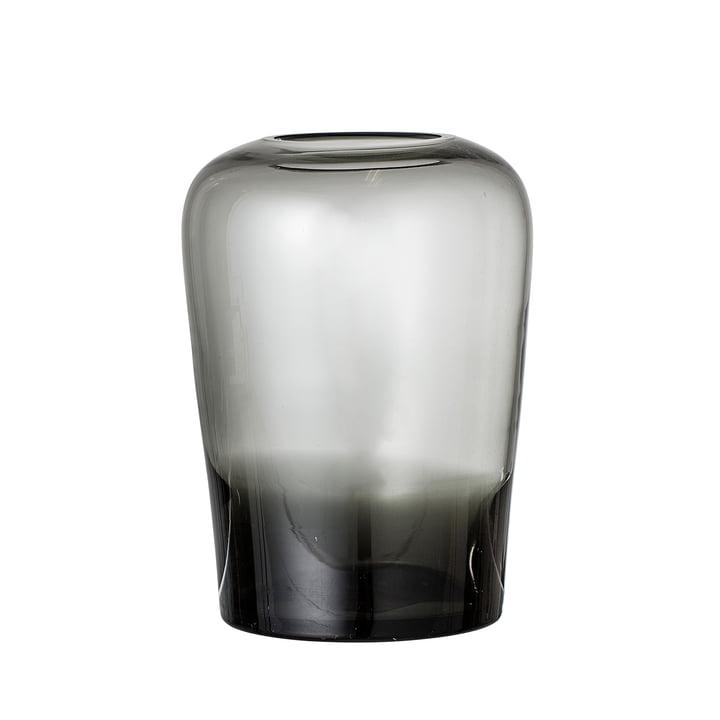 Glazen vaas van Bloomingville - Ø 13,5 x H 19 cm in grijs