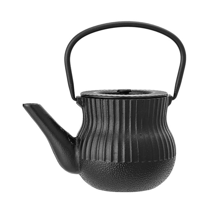 Theepot van Bloomingville - Ø 13 x H 12 cm in zwart