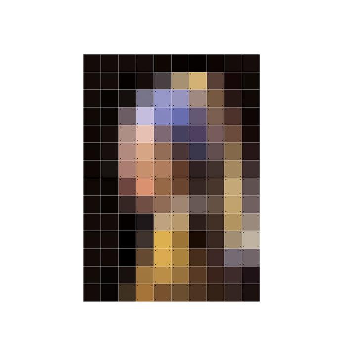 IXXI - Meisje met een parel (pixel), 100 x 140 cm