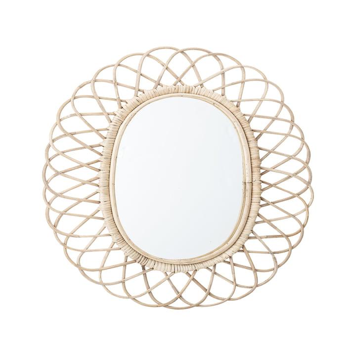 Spiegel gevlochten door Bloomingville, L 49 x H 53 cm