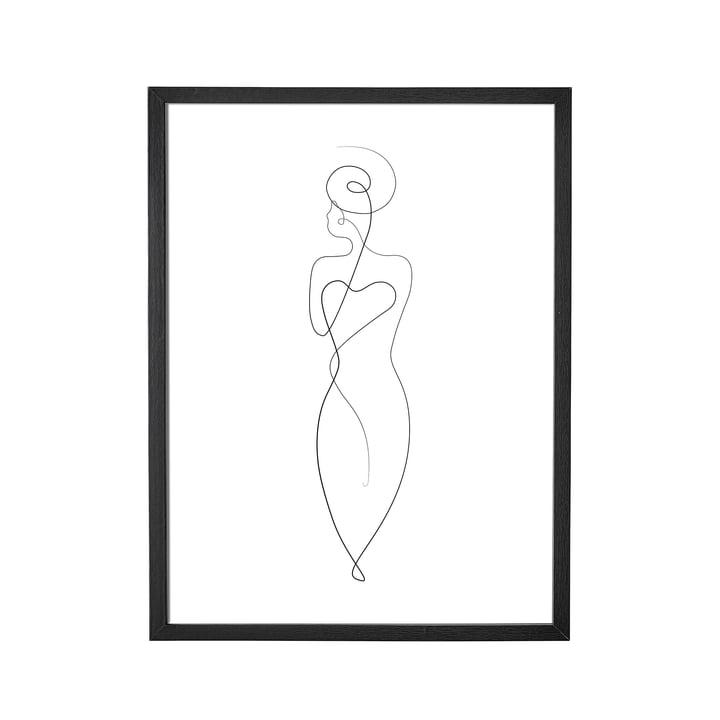 Fotolijst van Bloomingville, L 35 x H 45 cm in zwart