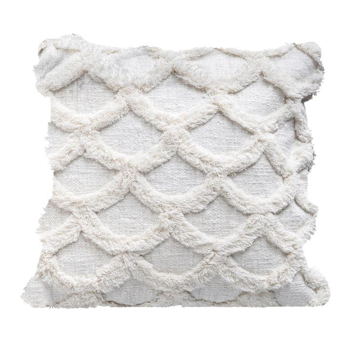 Verzamelkussen van Bloomingville, L 45 x B 45 cm in wit