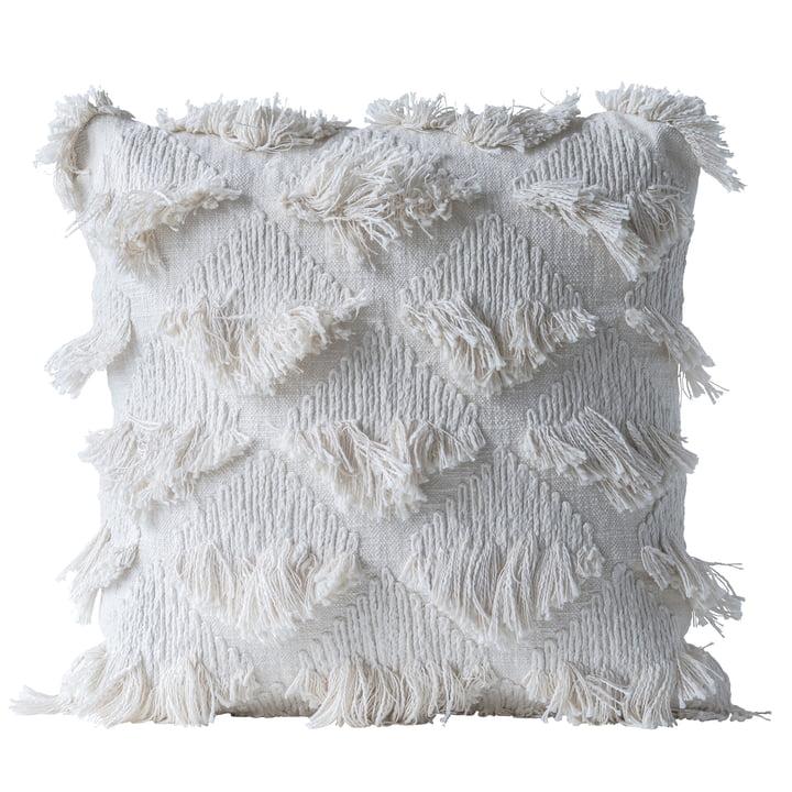Verzamelkussen van Bloomingville, L 55 x B 55 cm in wit