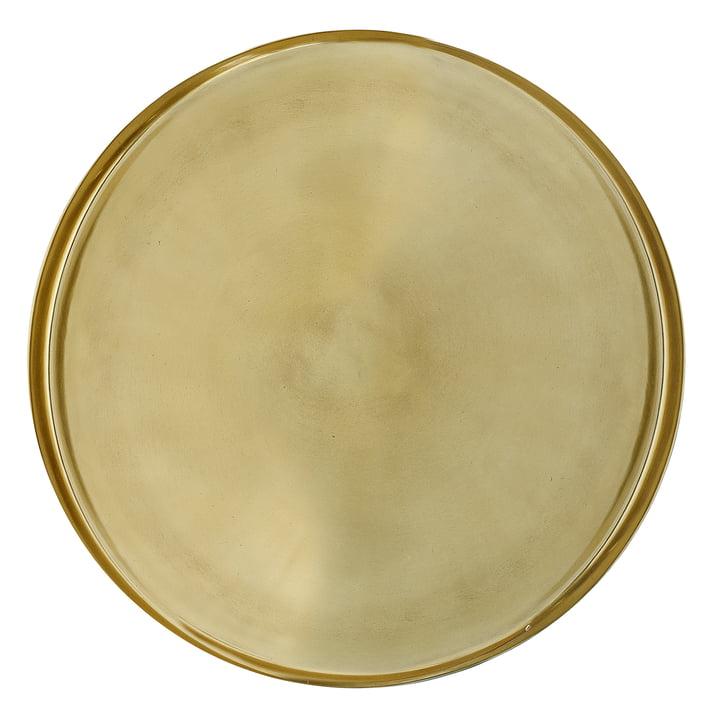 Dienblad van Bloomingville, Ø 50 x H 2,5 cm in goud