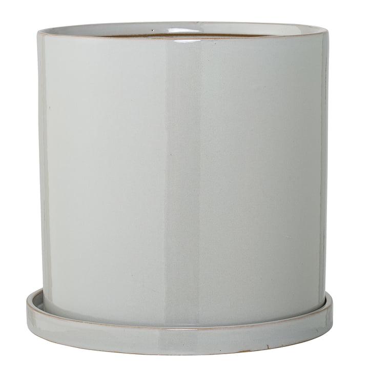 Bloempot met onderzetter van Bloomingville, Ø 28 x H 27 cm in grijs