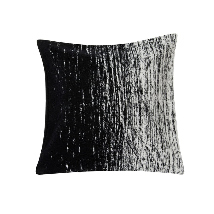 Kuiskaus kussensloop, 50 x 50 cm in zwart/wit van Marimekko, 50 x 50 cm