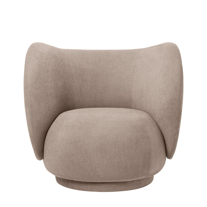 Rico Lounge Chair, Bouclé zand door ferm Living