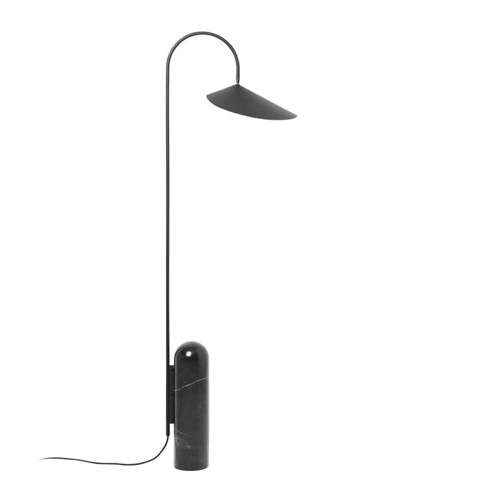 Trommelvloerlamp in zwart door ferm Living