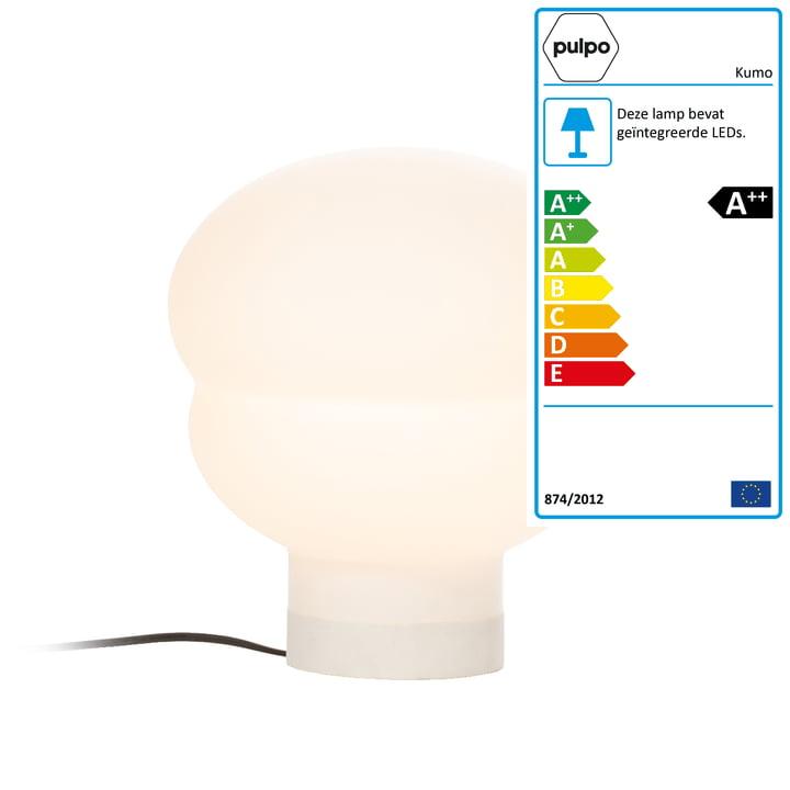 Kumo tafellamp klein van Pulpo in wit