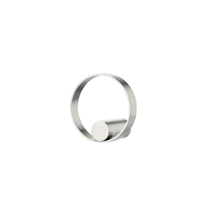 Gehaakt op ringen wandhaak Ø 5 cm in roestvrij staal uit de Zone Denemarken.