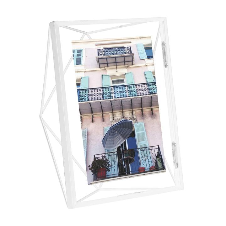 Prisma fotolijst 10 x 15 cm in wit van Umbra