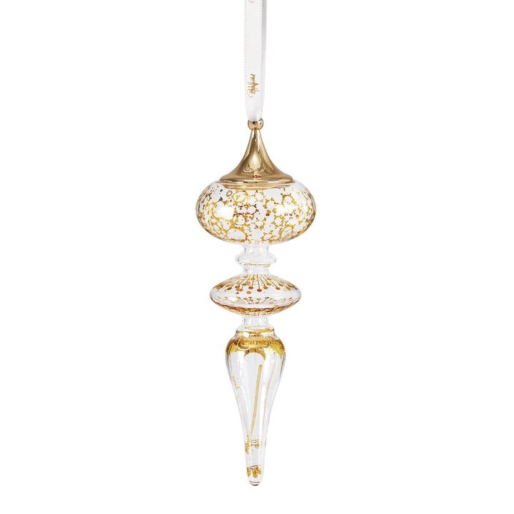 Kerstmis ijspegel H 16 cm van Bjørn Wiinblad in goud