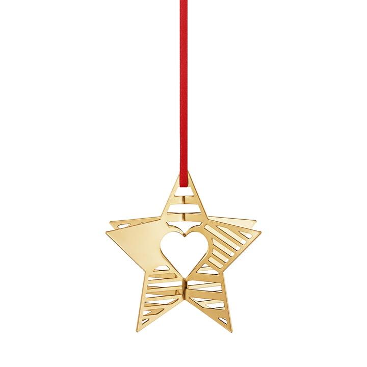 Vakantie Ornament 2019 Star, goud van Georg Jensen.