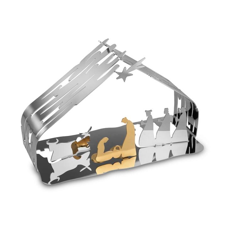 Schorslabbedje van Alessi in roestvrij staal / staalgoud