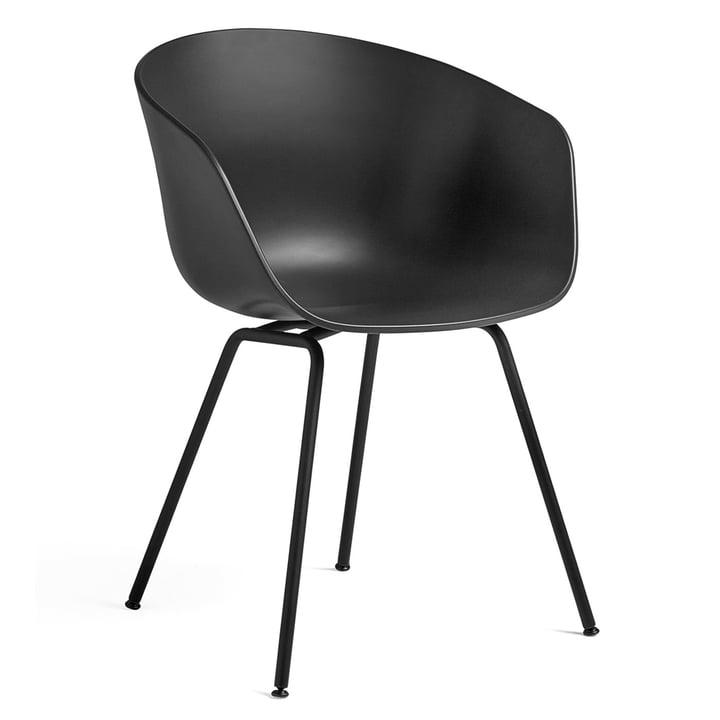 Over een stoel AAC 26 van Hay in staal zwart / zwart
