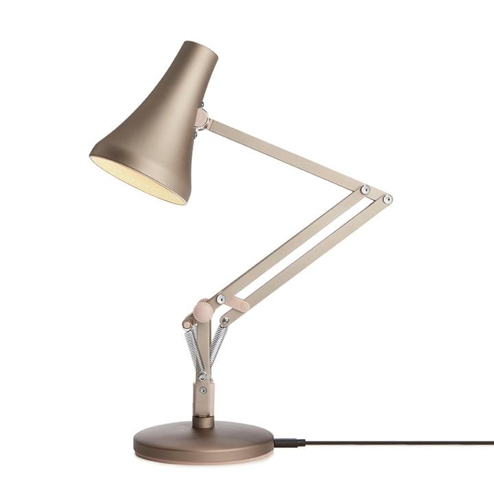 90 Mini Mini Mini LED tafellamp van Anglepoise in warm zilver/blush