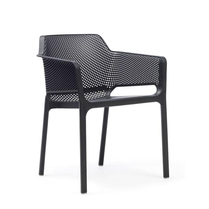 Net fauteuil van Nardi in antraciet